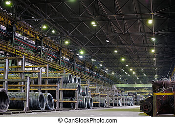 industrial metallurgical storehouse, warehouse