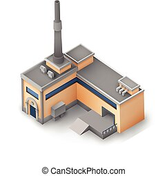 Industrial Modern Manufacturing Building Concept