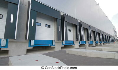 Industrial Modern Warehouse Loading Dock Ourdoor