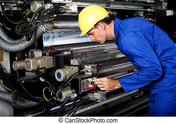 industrial, moderno, máquina, corriente, impresión,...