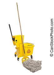 Industrial Mop and bucket - Industrial mop and bucket...