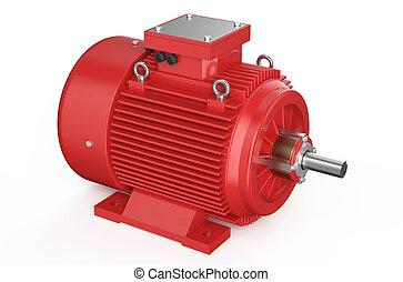 industrial, motor elétrico, vermelho