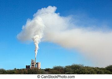 industrial, niebla tóxica