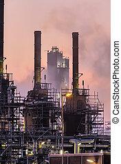 Industrial night scene
