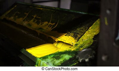Industrial Offset Press Yellow Ink