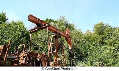 Industrial oil pump jacks working