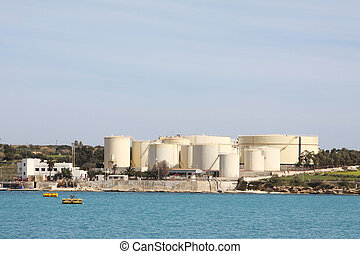 industrial oil tanks