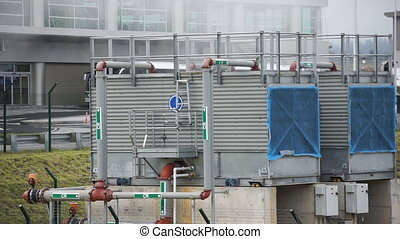 Industrial or Commercial HVAC Unit - Static shot of a large...