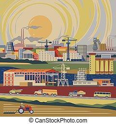 industrial, país