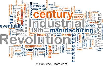 industrial, palabra, nube, revolución