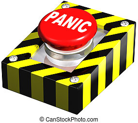 Industrial Panic button - Isolated illustration of an...