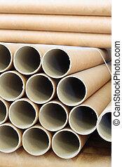 industrial paper - a bundle of paper rolls
