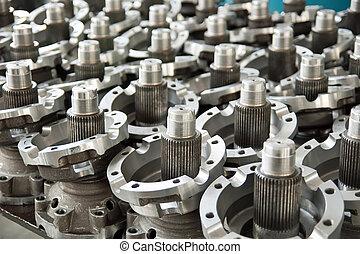 Industrial parts - the steel metal