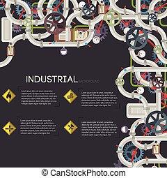 Industrial Pipeline Background