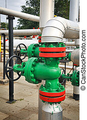 industrial pipelines and valve