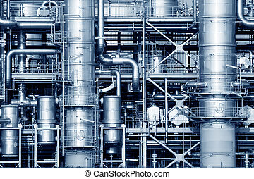 Industrial - Pipelines of a oil and gas refinery industrial...