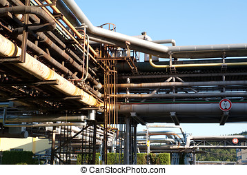 Industrial Pipework at Roznov - Gumarny Refinery