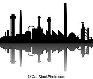 industrial, plano de fondo