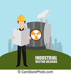 industrial plant design - industrial plant design, vector...