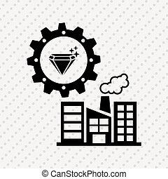 industrial plant design, vector illustration eps10 graphic