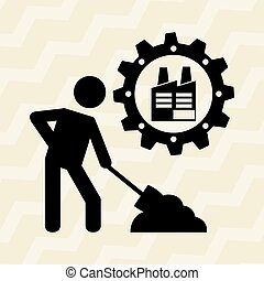 industrial plant design, vector illustration eps10 graphic