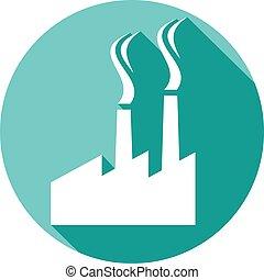 industrial plant flat icon (industrial buildings factory,...