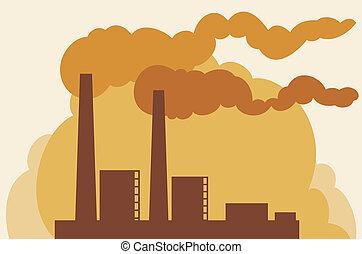 industrial plant (industrial buildings factory, silhouette...