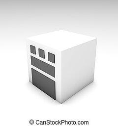 Industrial Plant in 3d Clip Art Illustration