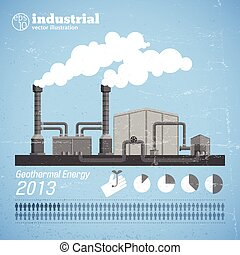 Industrial Plant Template - Industrial plant template with...