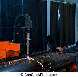 Industrial plasma cutter