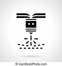 Industrial plasma cutting glyph style vector icon - Abstract...