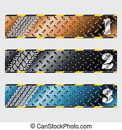 Industrial plate label design set