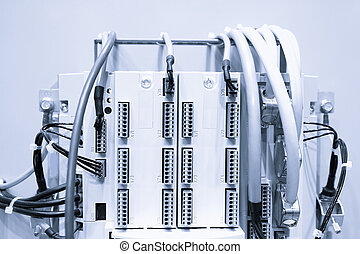 industrial, poder, caso, painel, com, circuit-breakers