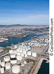 Industrial port.