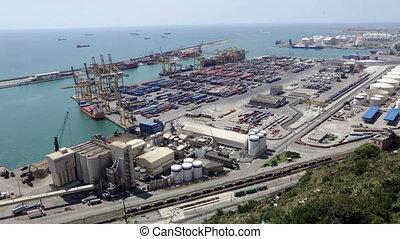 Industrial port of Barcelona - Industrial port of Barcelona...