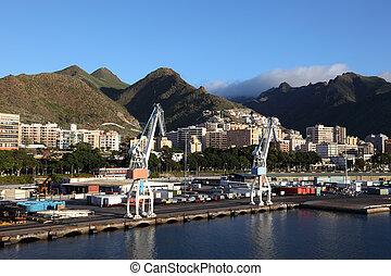 Industrial port of Santa Cruz de Tenerife, Spain