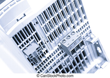 industrial, potencia, caso, panel, con, circuit-breakers