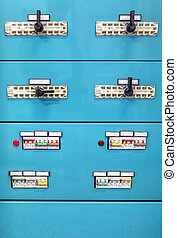 Industrial power supply control panel