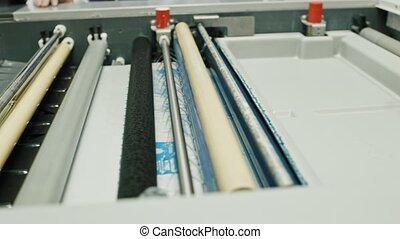 industrial printing of posters - print production, the...