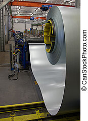 Industrial production - Forming machine for corrugated steel...