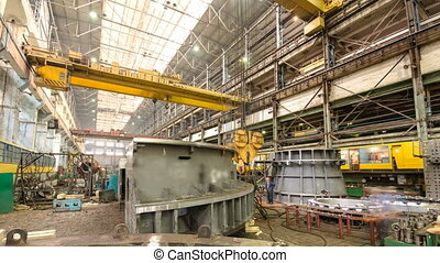 Industrial production of turbines for heavy industry...