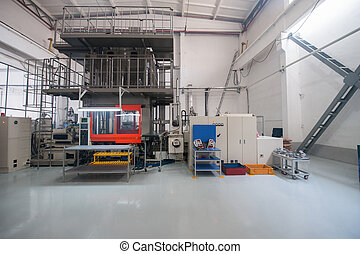 Industrial production workshop - Equipment testing and...