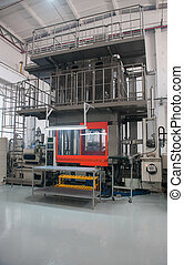 Industrial production workshop - Equipment testing the...
