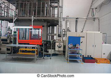 Industrial production workshop - Machine for checking the...