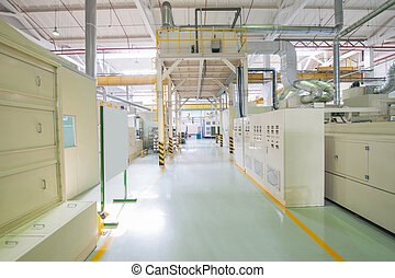 Industrial production workshop - Panorama and overview of...