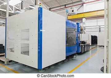 Industrial production workshop - Press machine closeup....