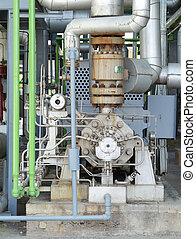 Industrial pump system for liquids under high pressure