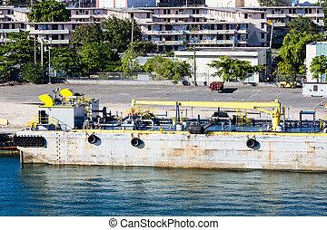 Industrial Pumping Equipment on Pier