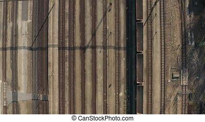 Industrial Railway Tracks - Many railway tracks industrial...