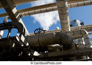 The complex systems of an oil refinery and its operations